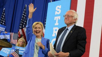 Ms Clinton's Democratic rival Bernie Sanders officially endorsed her during a joint appearance in New Hampshire in early July.