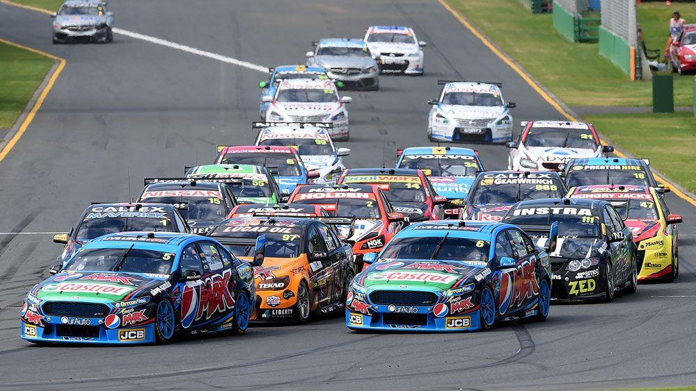 V8 Supercars at the Australian GP. (AAP)