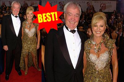 It wouldn't be a Logies gallery without KAK. And yes, we're giving this gold lace work of art the thumbs up!