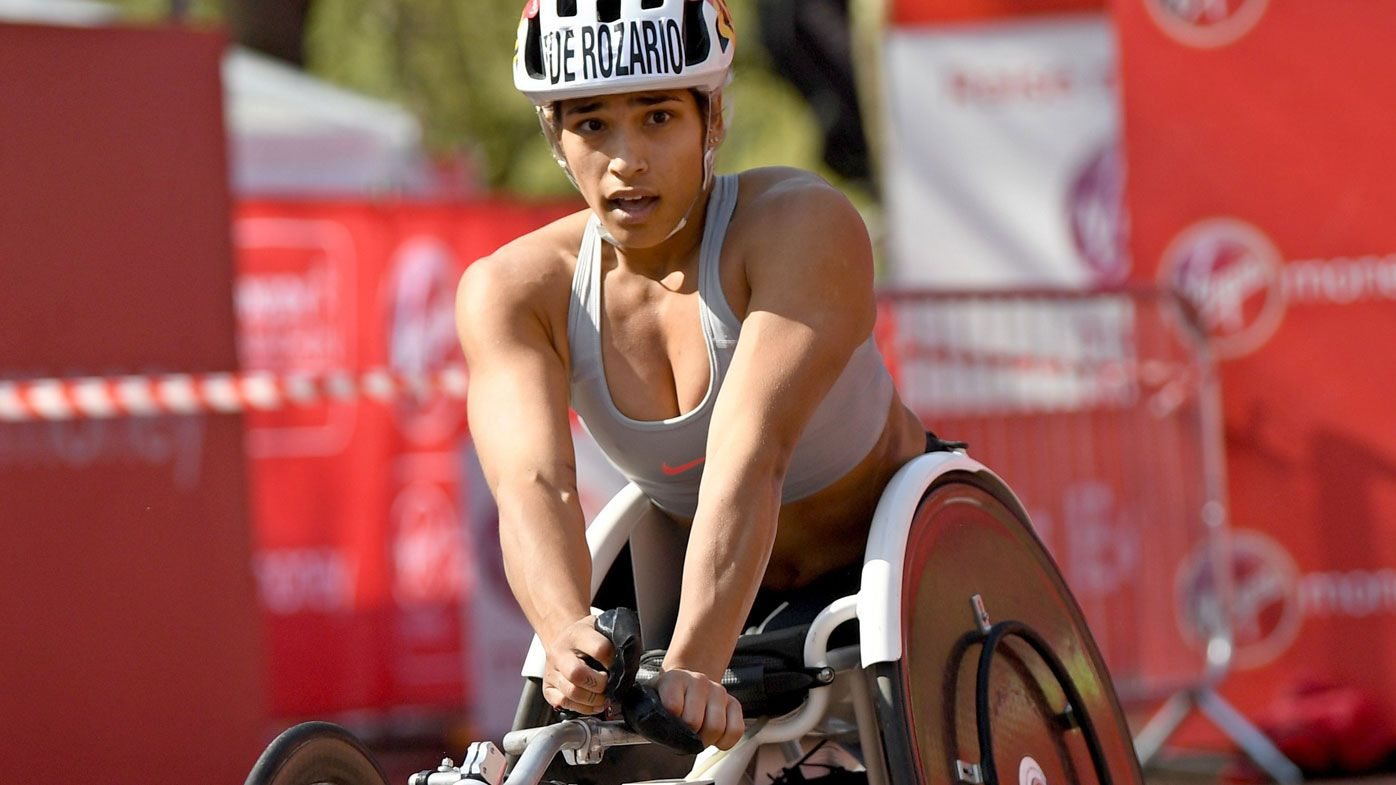 Australian women's wheelchair champion Madison de Rozario wins London Marathon
