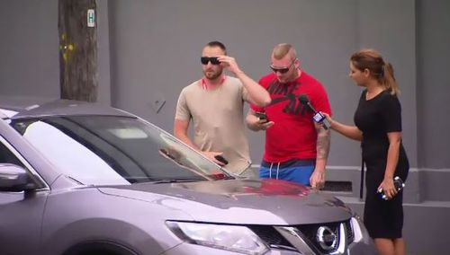 The other men involved in the cruise ship incident were seen back in Sydney after being taken off the boat yesterday. (9NEWS)