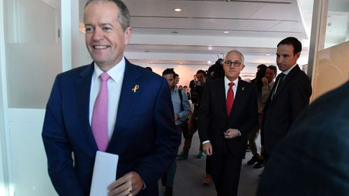 On the question of which leader has the confidence of their party, 65 percent of voters have named Mr Shorten – while Mr Turnbull on the other hand received just 55. Picture: AAP