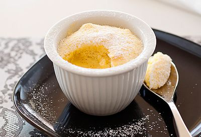 Orange delicious pudding