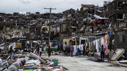 A flattened street in Jeremie, Haiti. (AP)
