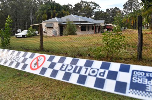 The house in Buccan which police visited in the hunt for missing Larissa Beilby. Picture: AAP