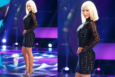 And she kept dropping the kilos...Here she is showing off her slender shape during <i>The Voice</i> promo.