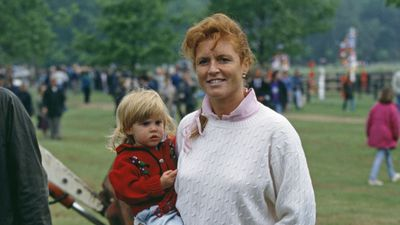 Duchess of York with little Princess Beatrice, 1990