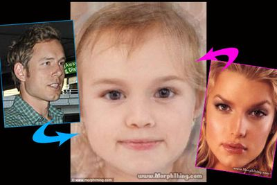 """See what the stars' babies would (or will) look like.<br/><br/>Pics created on <a href=""""http://www.morphthing.com/"""" target=""""new"""">MorphThing.com</a><br/>"""