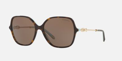 "<a href=""https://www.sunglasshut.com/au/8053672850116"" target=""_blank"">Tiffany & Co Sunglasses in Tortoise Brown, $510</a>"