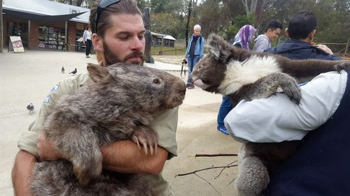 Patrick became known across the globe for travelling in his wheelbarrow at Ballarat Wildlife Park. (Facebook)