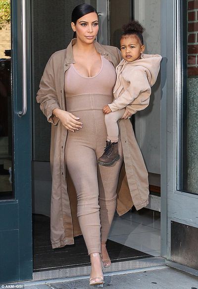 Kim Kardashian-West and her mini, North West, at it again in New York.