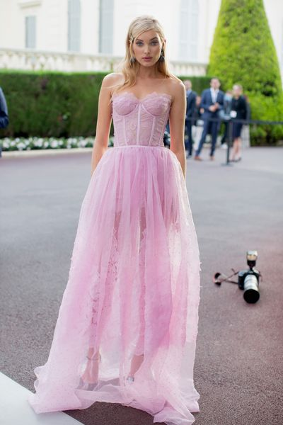 Victoria's Secret model Elsa Hoskat the amfAR Gala, Cannes 2017