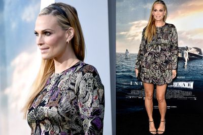 <i>Las Vegas</i> star Molly Sims went for a more casual look.