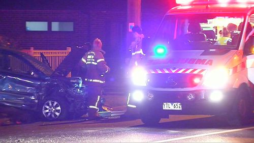 Two people are in hospital following the collision. (9NEWS)
