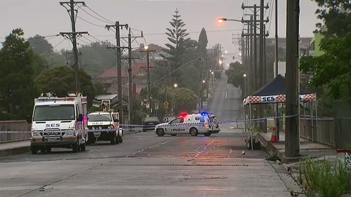 The homicide squad is investigating the woman's death. (9NEWS)