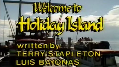 Holiday Island - the most regrettable bit of television Laurie Oakes has ever been in. (Network 10/YouTube)