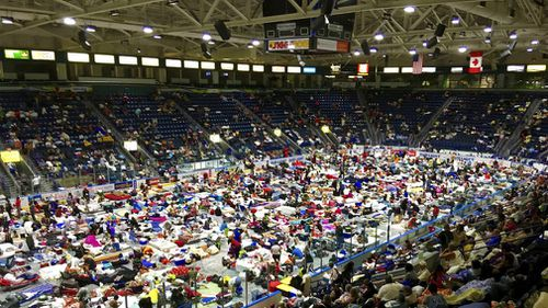 People in emergency shelters across the state.