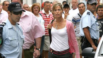 Kate McCann, the mother of missing British girl Madeleine McCann, arrives at the police station in Portimao, southern Portugal, to be questioned in September 2007.