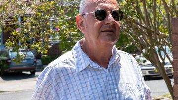 Milton Orkopoulos before arriving at Waverley Court for breaching bail conditions. In Sydney on January 22.