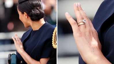 Meghan Markle debuted her new rings at Trooping the Colour.