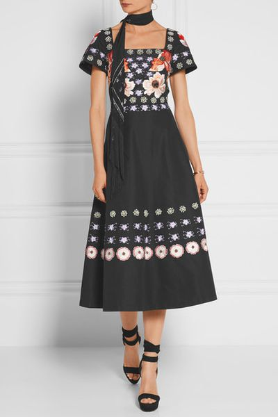 "Temperley London Sylvie embroidered cotton and silk-blend dress, $1768 at <a href=""https://www.net-a-porter.com/au/en/product/717590/Temperley_London/sylvie-embroidered-cotton-and-silk-blend-dress"" target=""_blank"">Net-a-porter</a><br>"