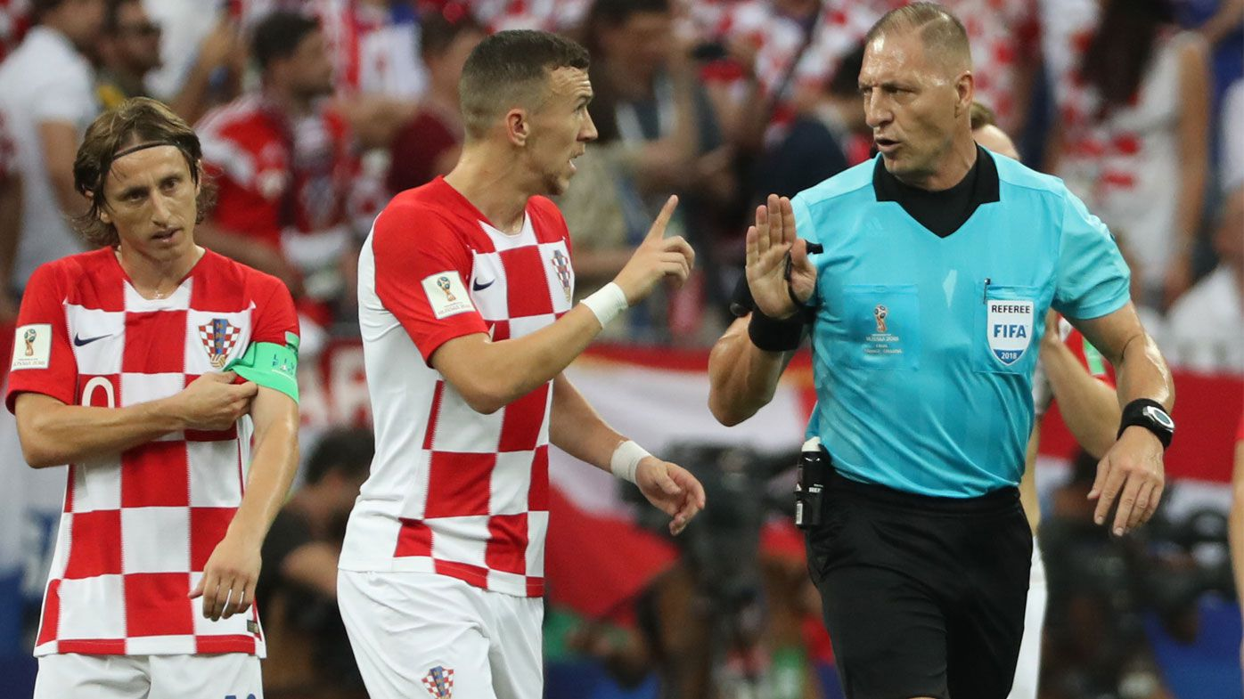World Cup final: Referee scolded after controversial calls mar France win over Croatia