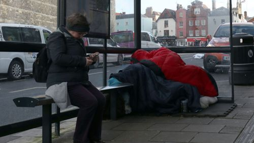 A council leader has called for homeless people to be removed from the area around Windsor Castle. (AAP)