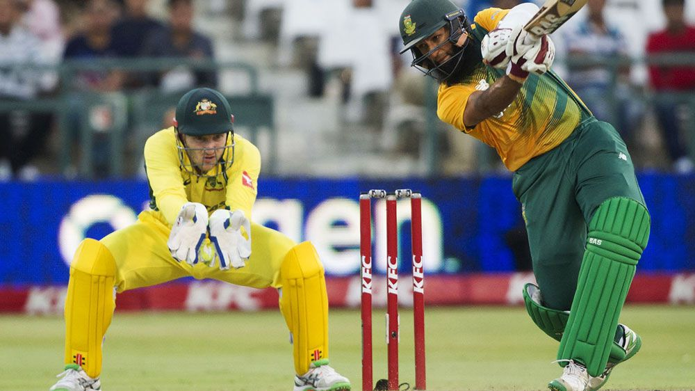 Hashim Amla hits out. (AFP)
