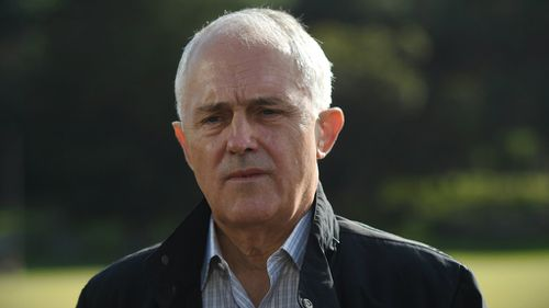 Malcolm Turnbull in Sydney today. (AAP)