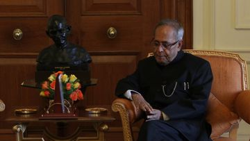 Julia Gillard and Pranab Mukherjee