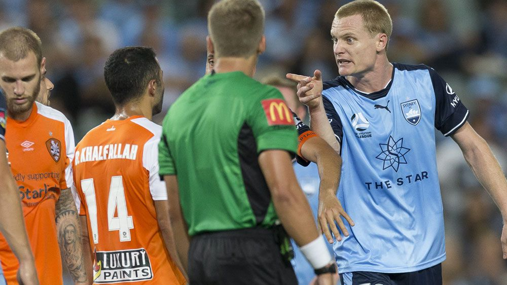 Brisbane Roar's Avraam Papadopoulos facing lengthy ban for A-league spitting incident