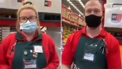 A woman threatened to sue workers at a Bunnings store in Melbourne after being asked if she could put on a mask.