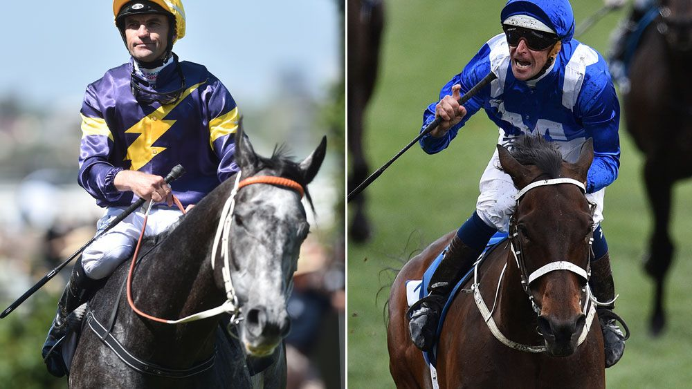 Chautauqua (l) and Winx could be on a collision course in the George Ryder Stakes. (AAP)