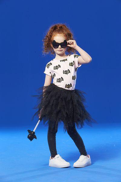 "Cotton On <a href=""http://cottonon.com/AU/tori-tulle-skirt/772279-03.html?dwvar_772279-03_color=772279-03&amp;cgid=#q=halloween&amp;lang=en_AU&amp;start=19"" target=""_blank"">Tori Tulle Skirt, $34.95</a> and <a href=""http://cottonon.com/AU/girls-short-sleeve-halloween-tee/782292-01.html?dwvar_782292-01_color=782292-01&amp;cgid=#q=halloween&amp;lang=en_AU&amp;start=1"" target=""_blank"">Batgirl Tee Shirt, $22.95.</a>"