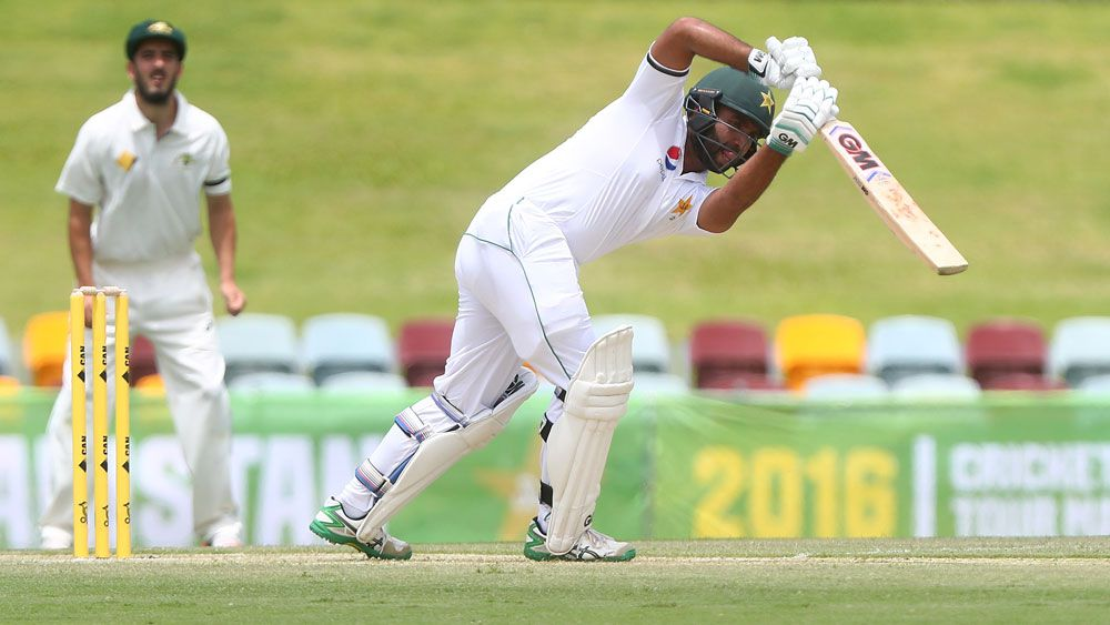 Pakistan opener Sami Aslam in action in Cairns. (Getty Images)