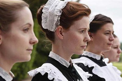 Newcomer as Amy Nuttall as maid Ethel Parks (second from the left).