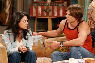 Jackie and Kelso didn't make it on the show, so we're cool with projecting onto real-life couple Mila Kunis and Ashton Kutcher's relationship instead.