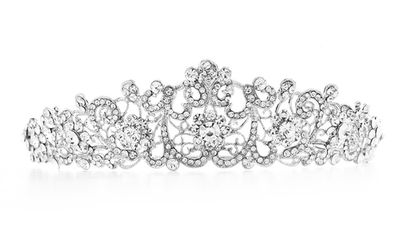 """<a href=""""http://romanandfrench.com/collections/collection-bridal-wedding-hair-accessories/products/colin-bridal-tiara-silver"""" target=""""_blank"""">Colin Bridal Tiara, $79, Roman and French</a>"""