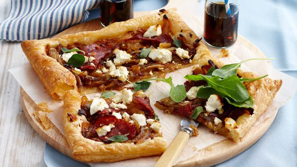 Caramelised onion tarts for $9.80