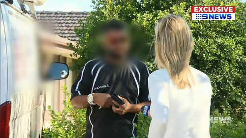 The man denied wrongdoing when approached by 9NEWS.