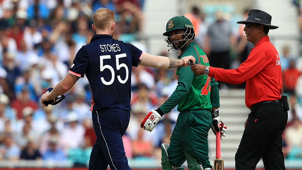 Ben Stokes and Tamim Iqbal in fiery confrontation