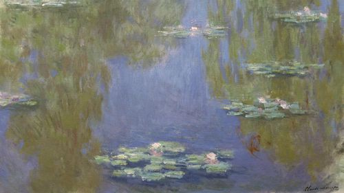 Waterlilies by Claude Monet. (AAP Image/National Gallery of Victoria)