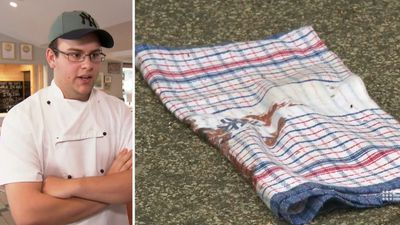 Teen chef saves man 'with knife hanging out of chest'