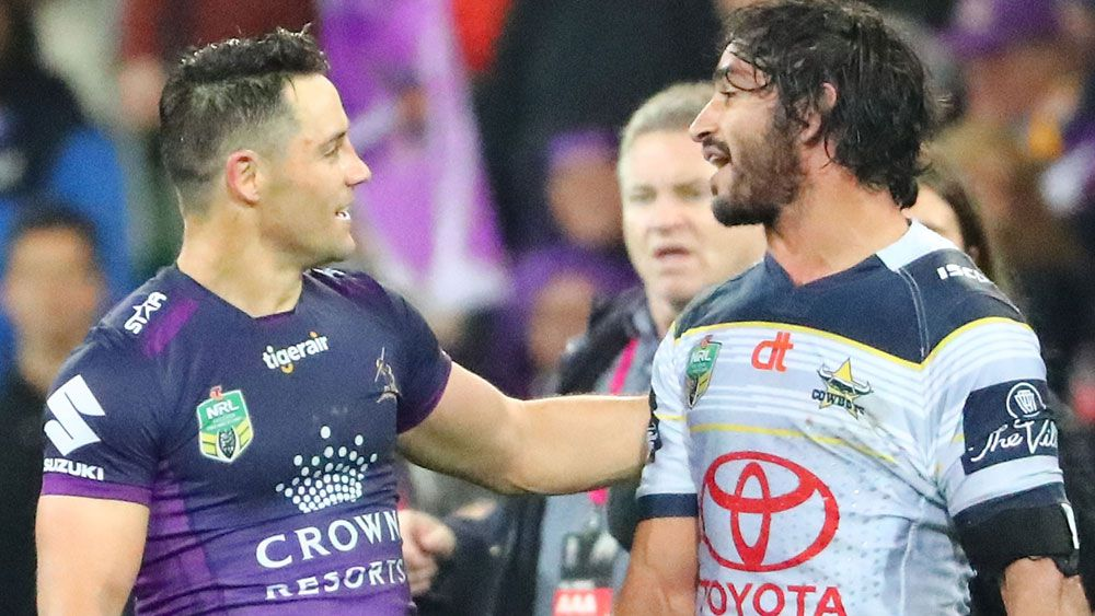 Cooper Cronk and Johnathan Thurston. (Getty)