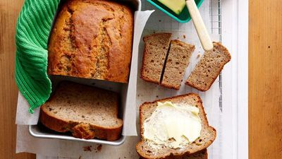 "Recipe:&nbsp;<a href=""http://kitchen.nine.com.au/2016/05/16/13/05/lunchbox-banana-bread"" target=""_top"" draggable=""false"">Lunchbox banana bread</a>"