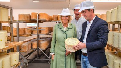 4 Camilla, Duchess of Cornwall visits The Bath Soft Cheese Company