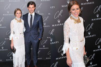 Newlyweds Olivia Palermo and Johannes Huebl turned heads.