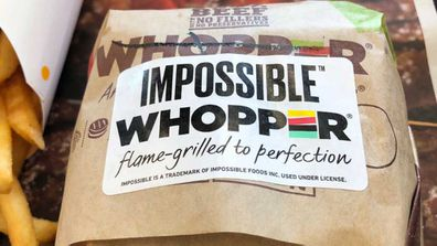 Impossible Whopper burger