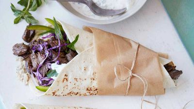 "Recipe: <a href=""http://kitchen.nine.com.au/2018/02/27/10/01/greek-beef-pita-recipe"" target=""_top"">Greek beef pita</a>"