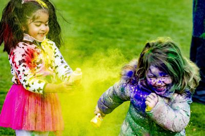 Children and people of all ages embrace the Holi Festival and the colour and energy it evokes.